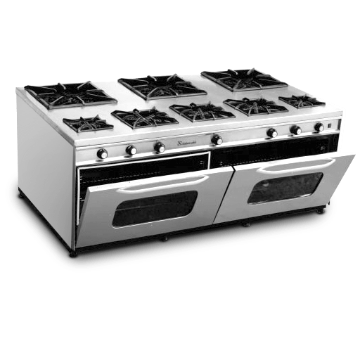 CRBO02- Cooking Range 8 Burners With Two Oven