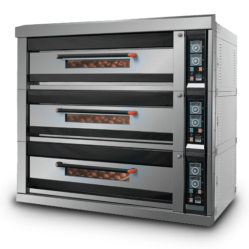 THREE DECK OVEN GAS OPERATED (6 FEET)